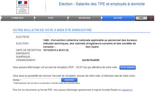 Mon accusé de vote : Anonyme ?