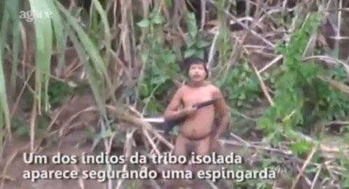 Peuple non-contacté en Amazonie en juin 2014