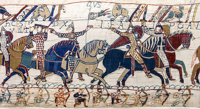 640px-Bayeux_Tapestry_scene55_William_Hastings_battlefield
