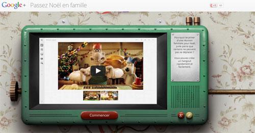 Un hangout pour être en famille pour Noël