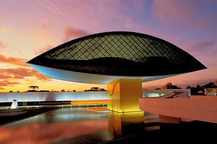 Vue du musée d'Oscar Niemeyer