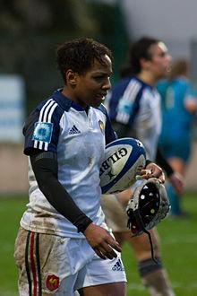 Sandrine Agricole, demi d'ouverture d el'équipe de France de rugby