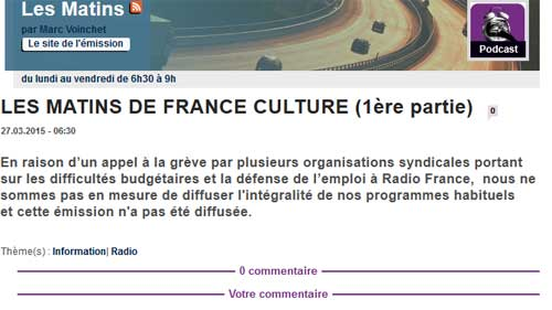 La grève à Radio France