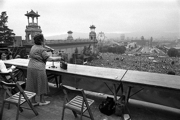 Federica Montseny en 1977 en Espagne